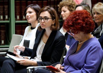 """10 marzo 2016 – """"Evento di lancio del network di WIIS Italy presso la Biblioteca del Senato della Repubblica a Roma"""" - Irene Fellin, Lia Quartapelle, Valeria Fedeli"""