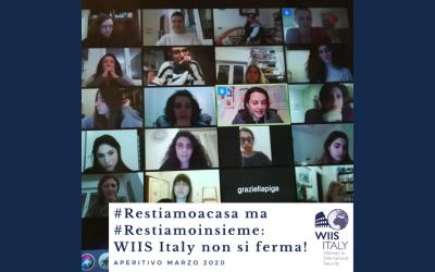 Primo aperitivo online di WIIS Italy