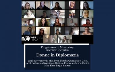 """Programma di Mentoring: secondo incontro online """"Donne in Diplomazia"""""""