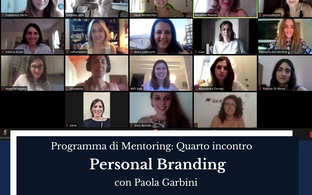 Mentoring Programme's fourth online event: Personal Branding