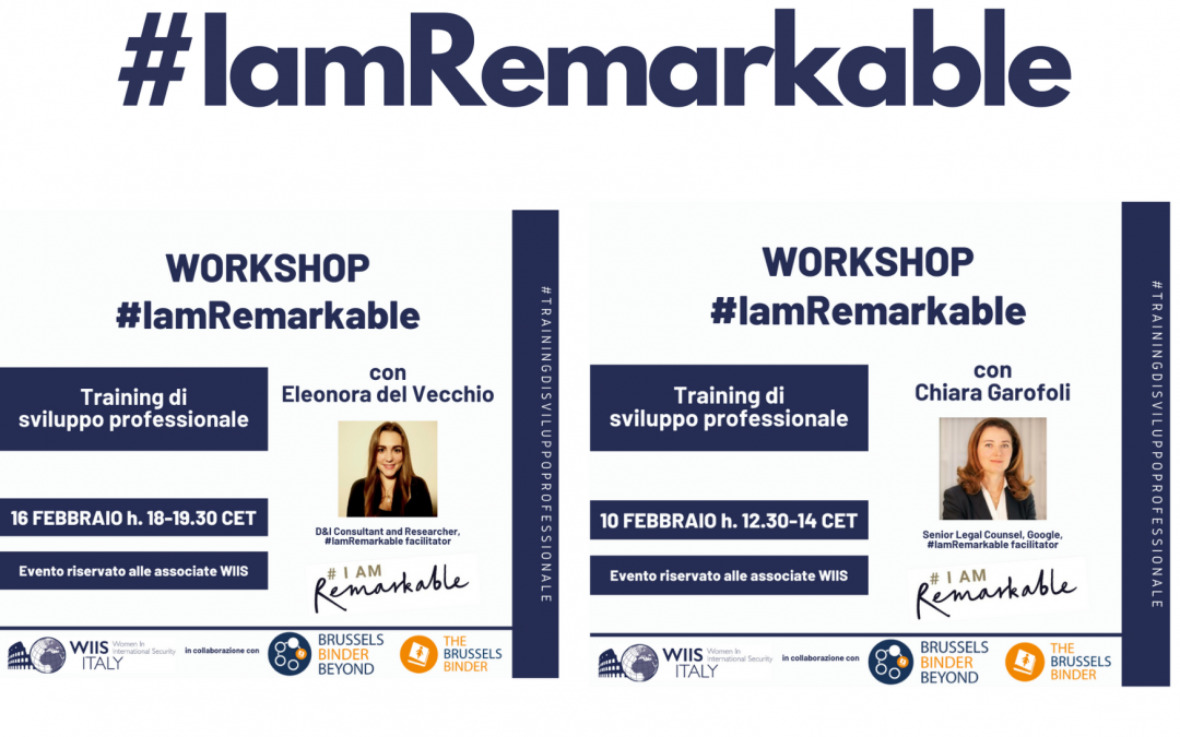 #IamRemarkable: Training di Sviluppo Professionale