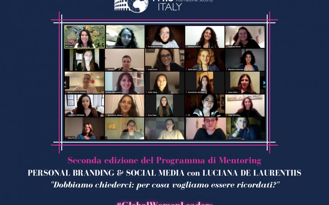 Seconda edizione Programma di Mentoring: Personal Branding & Social Media