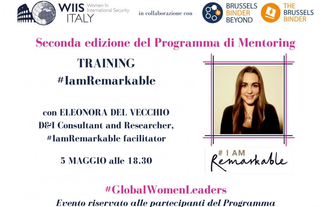 #IamRemarkable – Incontro del Programma di Mentoring