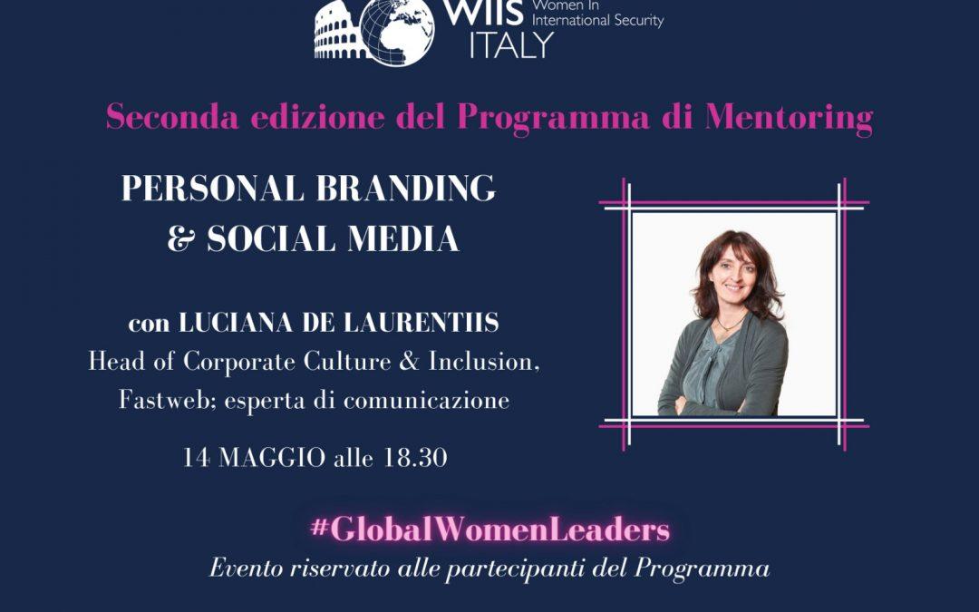 Training di Sviluppo Professionale del Programma di Mentoring: Personal Branding e Social Media